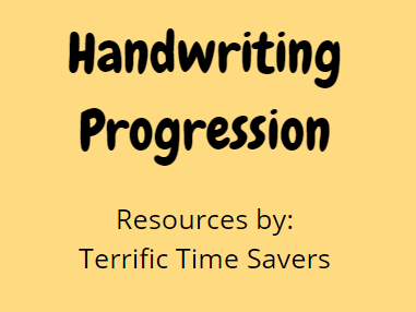 Handwriting Progression Grid