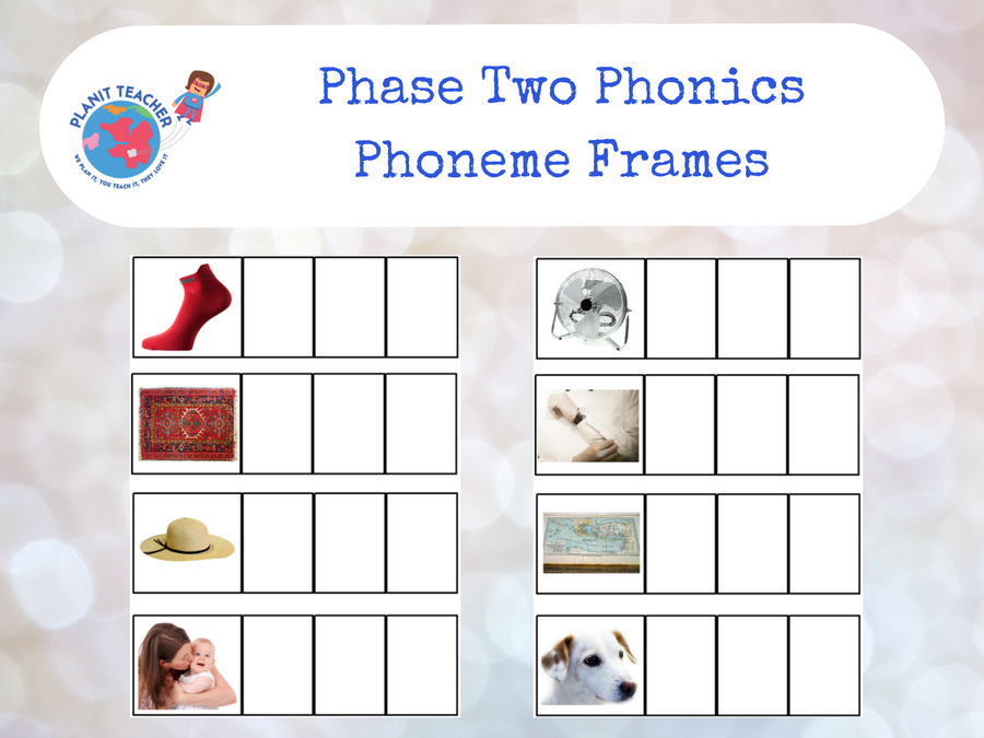 Phoneme Frames - EYFS - Phase 3 Phonics Letters and Sounds by ...