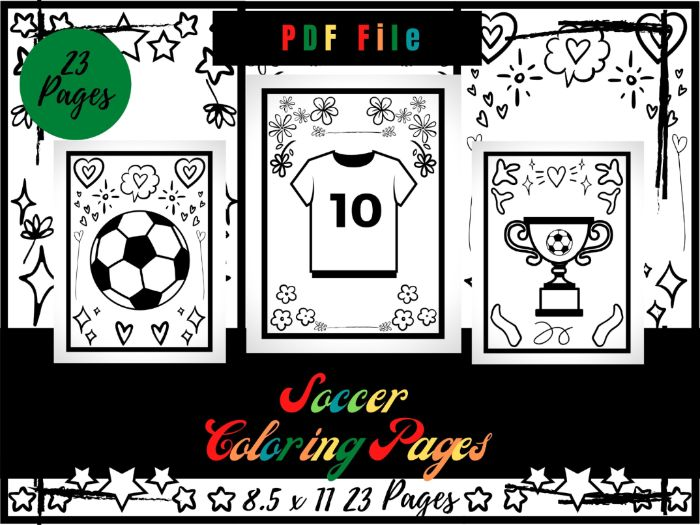 Soccer Colouring Pages For kids, Football Colouring Sheets PDF, Sport Printable