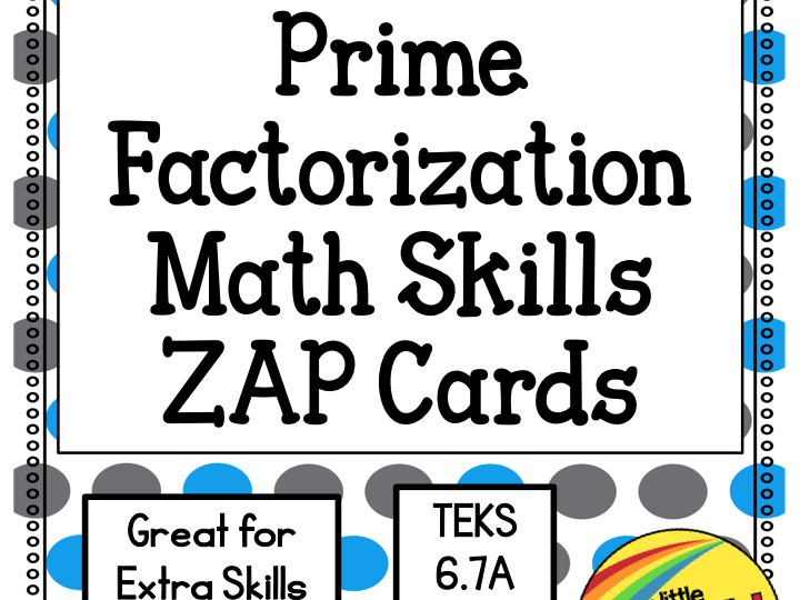 Prime Factorization Zap Cards