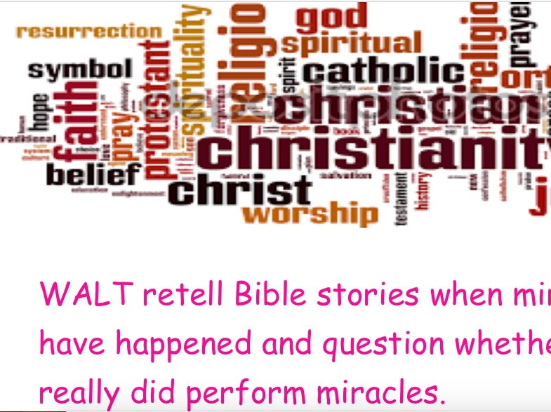 RE- What is a miracle? (Discover RE- Y3 Christianity)