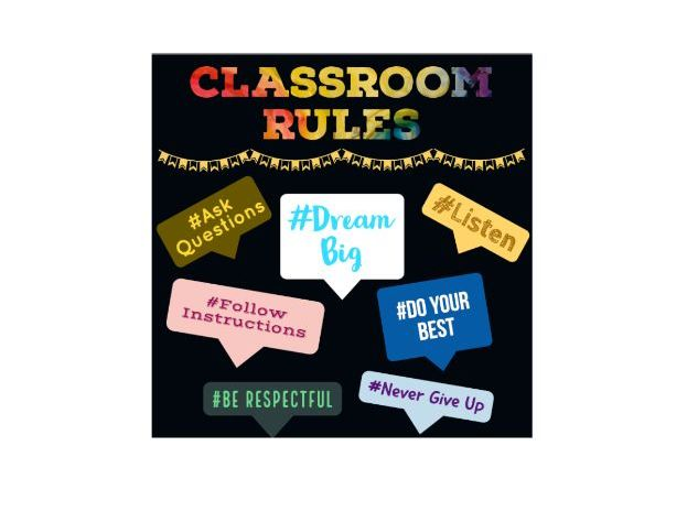 Classroom Rules Poster / Display