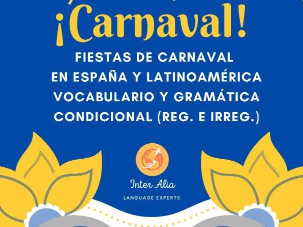 CARNAVAL en España y Latinoamérica - Clase de Español/Spanish Class (B1-B2-C1)