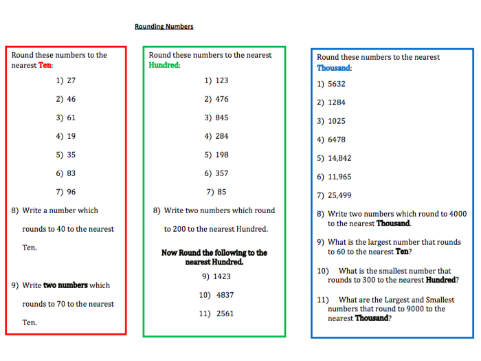 Elementary school rounding and estimation resources