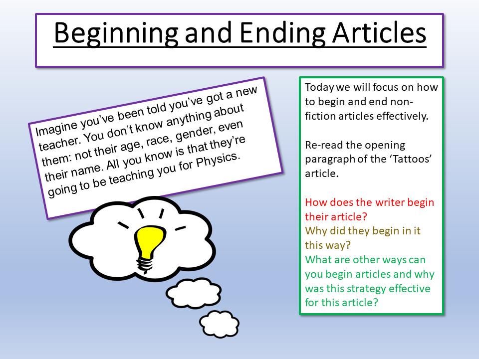 English Beginnings and Endings