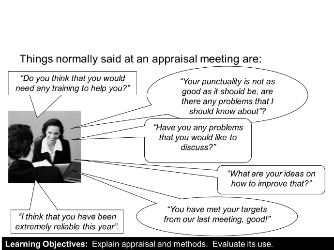 Appraisal used in business