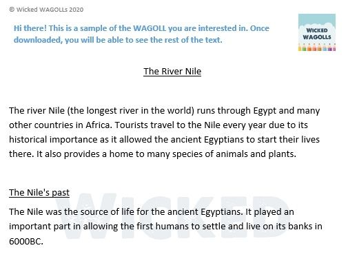 Information Text on the River Nile