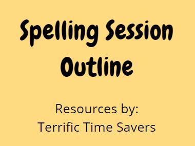 Spelling Lesson Planning