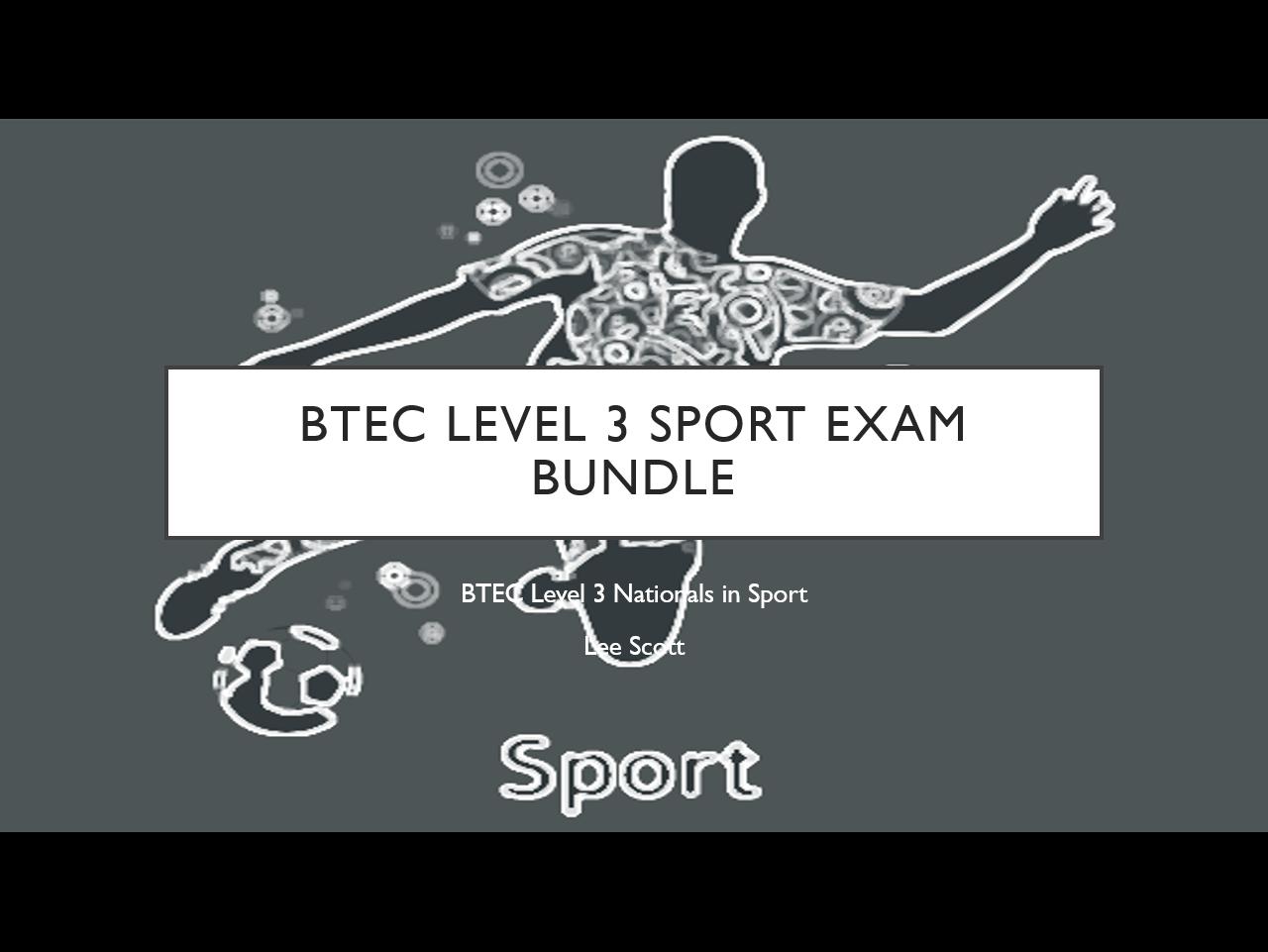 BTEC Level 3 Sport Exam Bundle