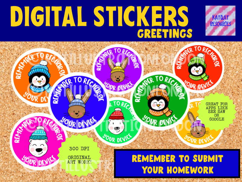 Digital Stickers - Reminders - Remember To Submit Your Homework - Seesaw Google