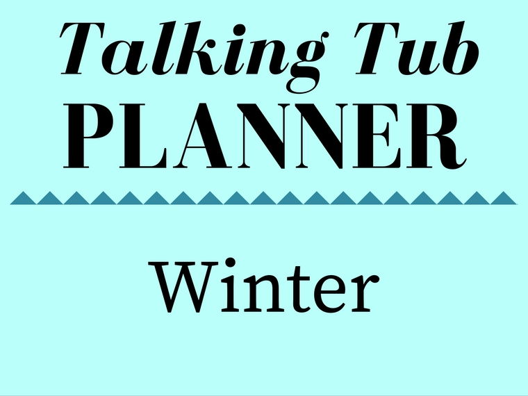 Winter Talking Tub Planner