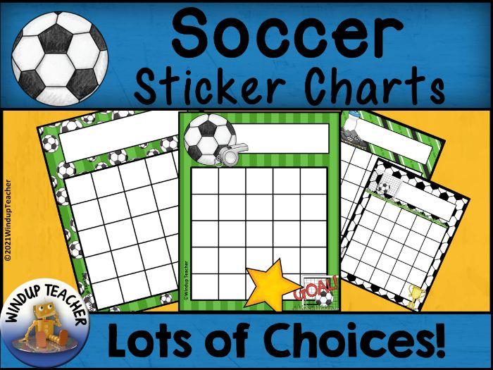 Soccer Sticker Charts
