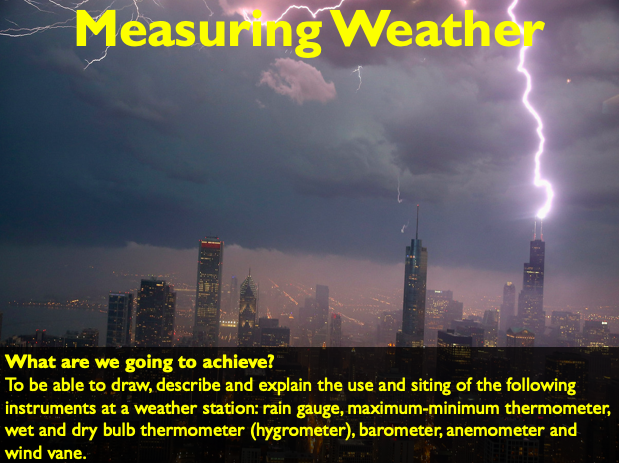 IGCSE/GCSE Measuring Weather and School Micro Climate (2 lessons)