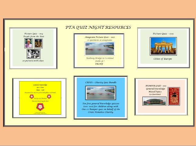 PTA-QUIZ NIGHT RESOURCE