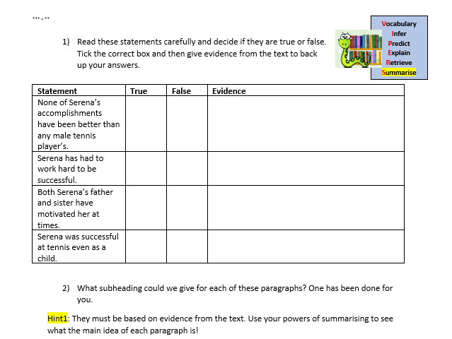 Year 6 reading comprehension 5 lessons - SATs revision