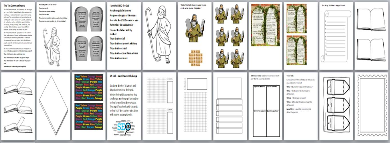 Moses Activity Pack