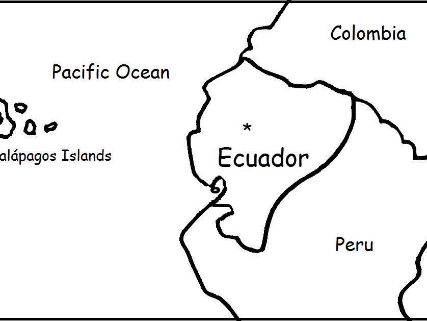 ECUADOR - Printable worksheets include a map to color