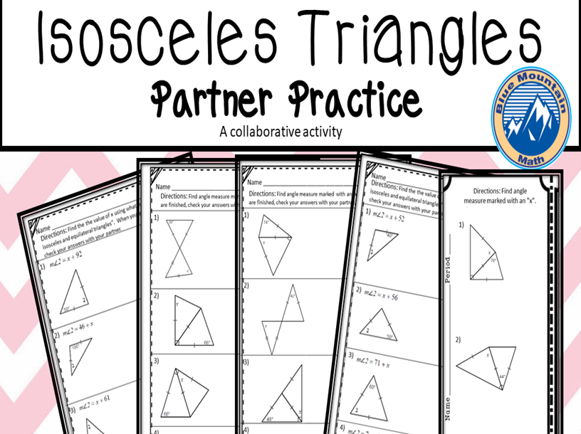 Isoceles Triangles Partner Practice