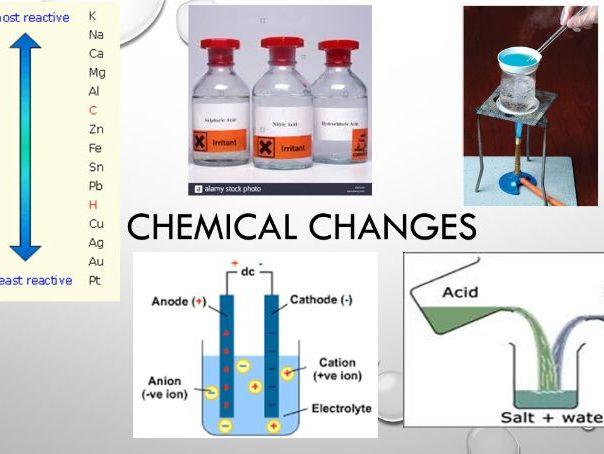 AQA Chemistry GCSE C4 - Chemical changes