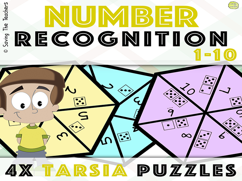 Tarsia Puzzle Activity: Number Recognition - Counting from 1 - 10