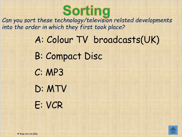 Knowledge challenges – sorting