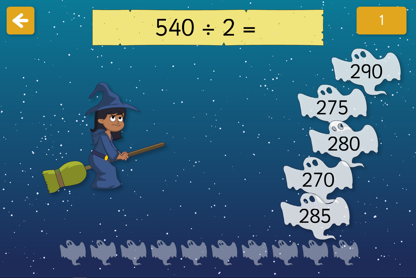 Spooky Maths Doubling and Halving - Interactive Activity - Halloween KS2