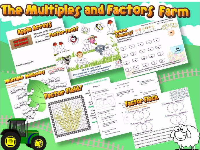 Multiples and Factors Farm-  KS2 Topic Intro Lessons