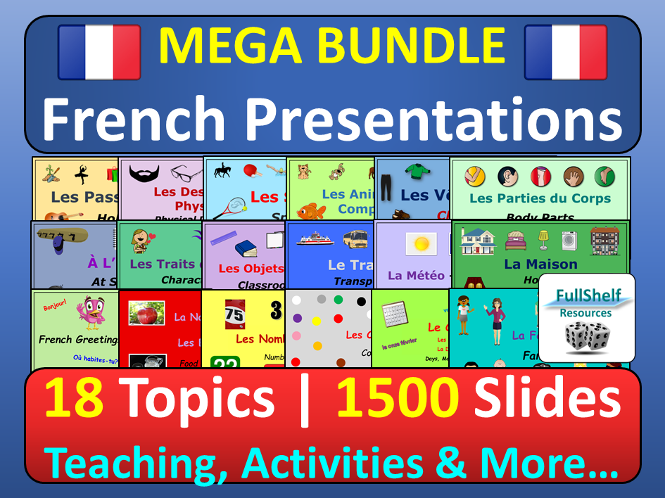 French PowerPoint Lesson Presentations