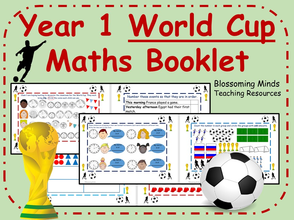 Year 1 Football World Cup Maths Booklet