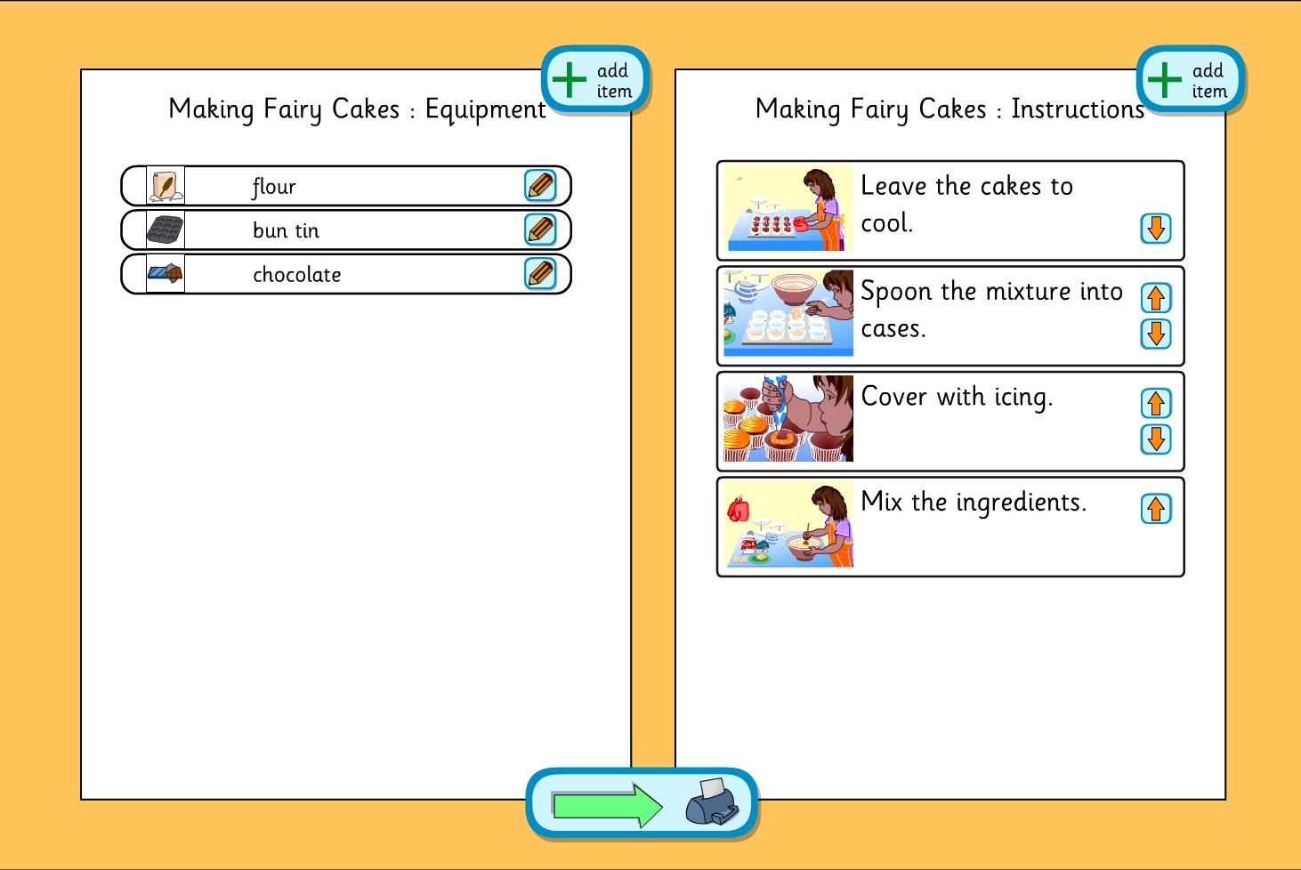 Planning Template - Making Fairy Cakes - KS1 Literacy