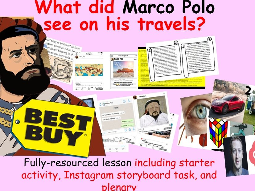 What did Marco Polo see on his travels?