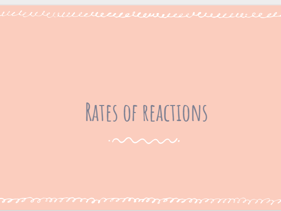 AQA GCSE Chemistry Rates of Reaction - whole unit