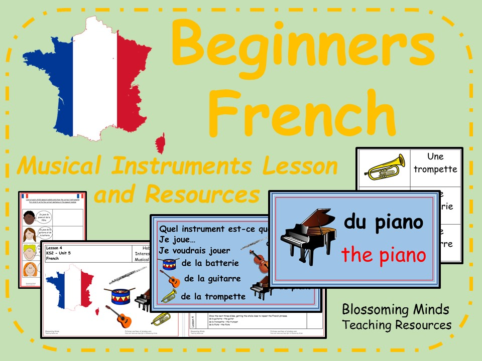 French Lesson and Resources - KS2 - Musical Instruments