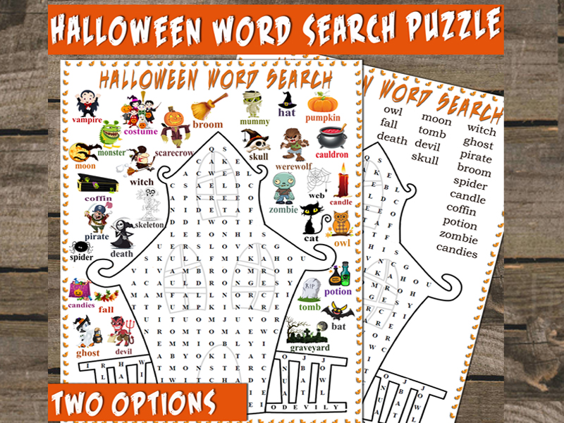 Halloween Word Search | Haunted House Wordsearch
