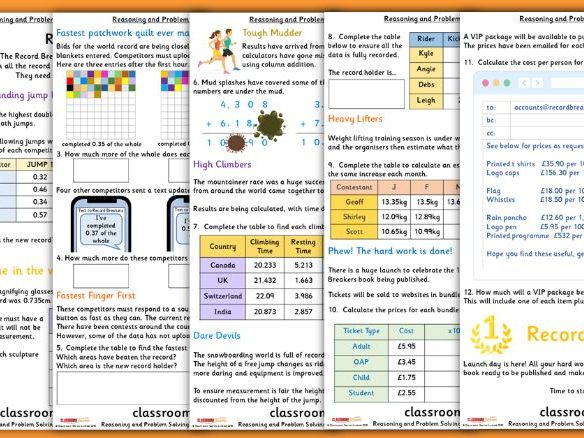 Decimals Consolidation Year 5 Summer Block 1 Reasoning and Problem Solving