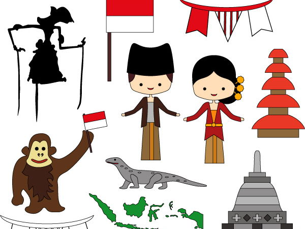 From Indonesia with Love clip art - Indonesia culture clipart