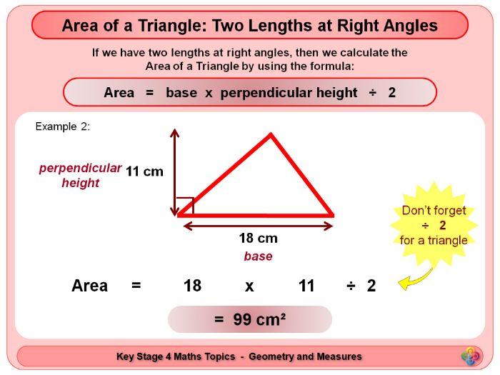 Area of a Triangle KS4