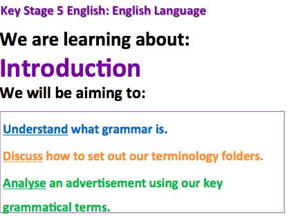 AQA A Level English Language - SOL