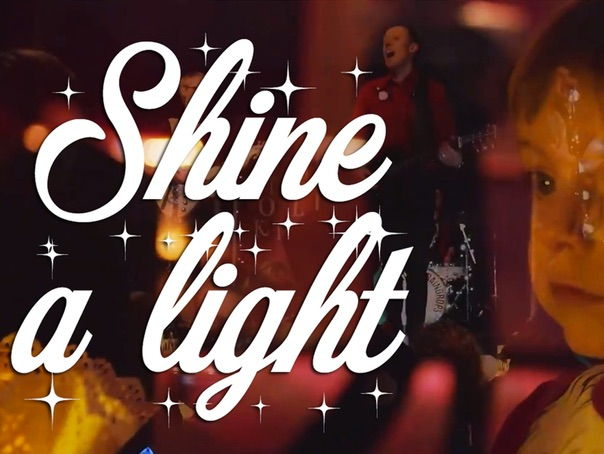 'Shine a light'. Uplifting Christmas song. Backing track. No backing vocals.