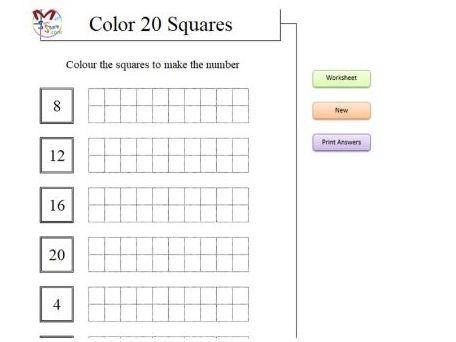 Color 20 Squares