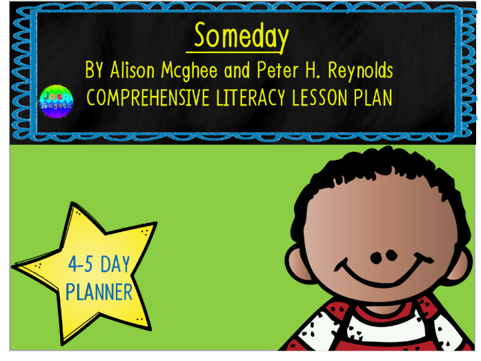 Someday by Alison Mcghee and Peter Reynolds 4-5 Day Lesson Plan