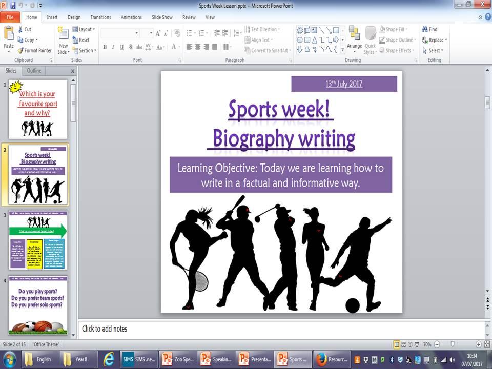 Sports Writing!
