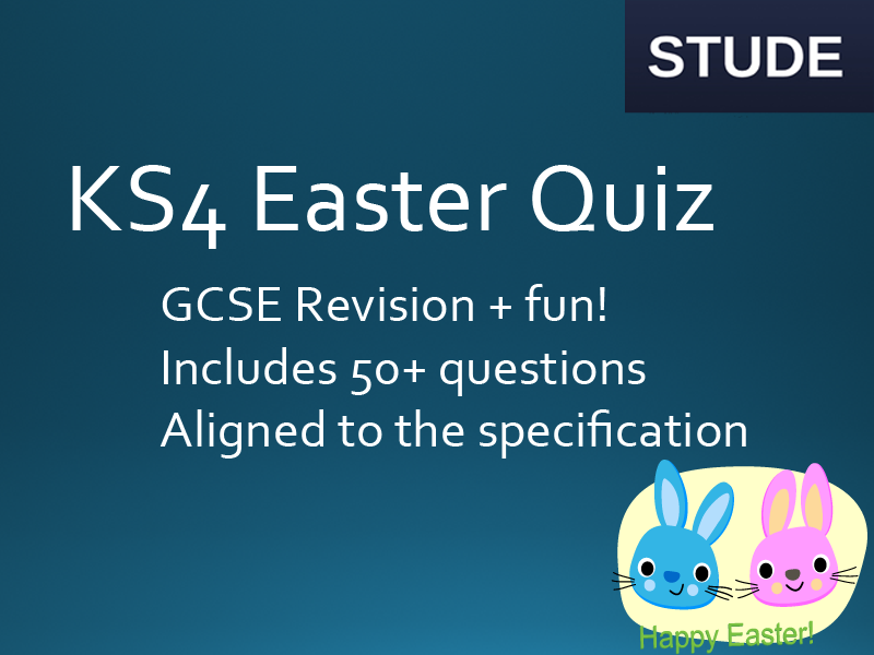 Easter End of term GCSE Computing Revision Quiz 2017