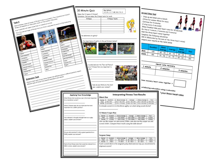 GCSE PE - Edxcel -  Components of Fitness - Fitness Testing