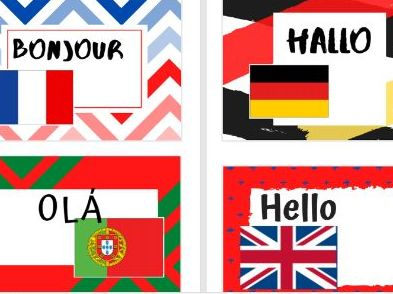 Greetings from around the world posters