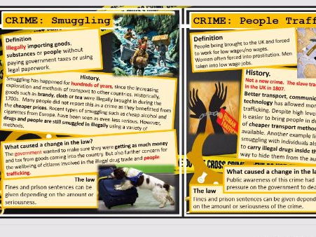Lesson 24 GCSE History Edexcel 1-9 Crime and Punishment: 1900- present:  New or old crimes?