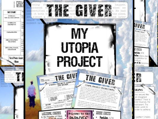"The Giver Activity: Unit Project ""My Utopia"" (Preview the novel)"