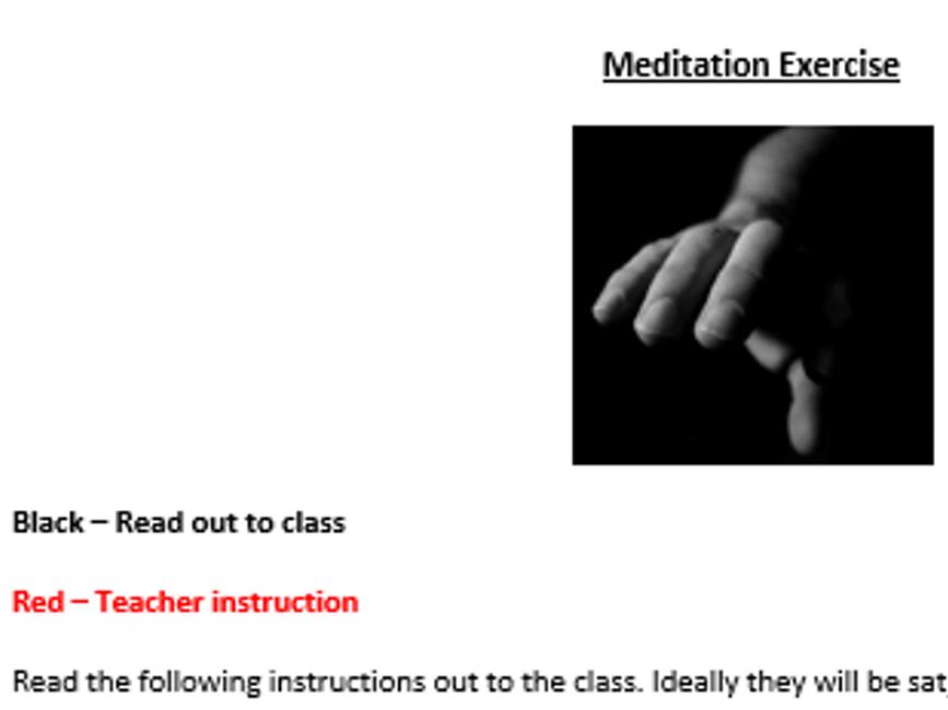 Meditation activity