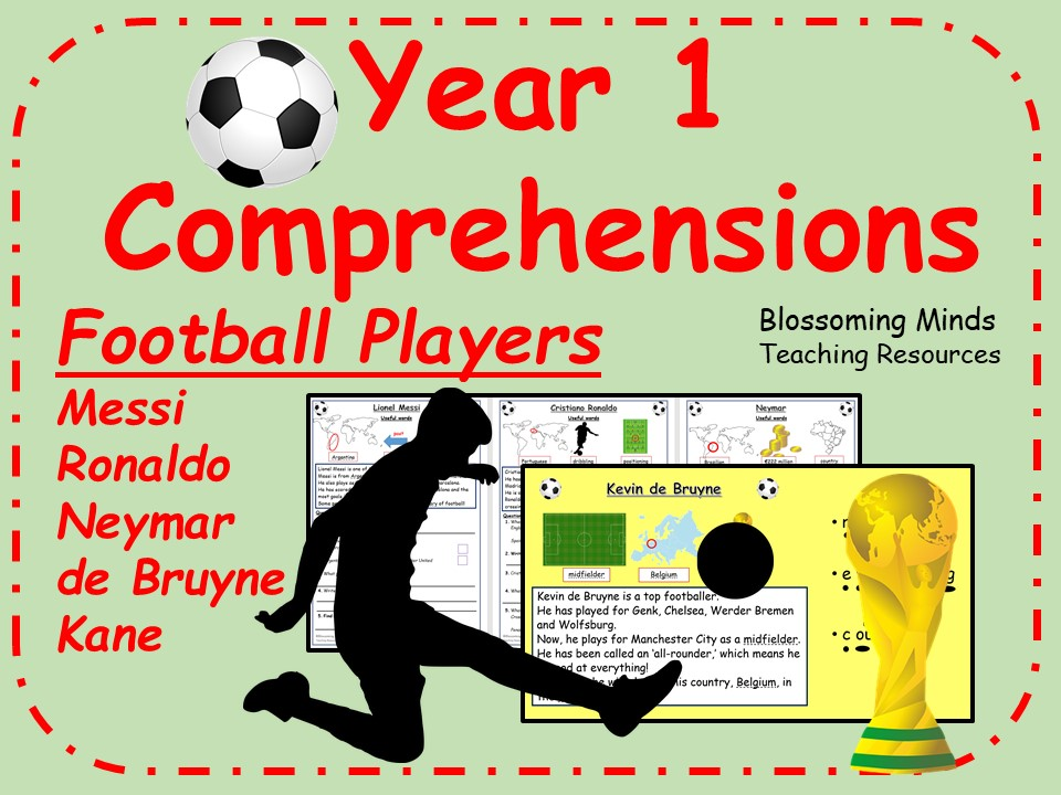 Year 1 Football World Cup 2018 Reading Comprehensions - Footballers