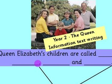 Year 2 - English - Unit of Work - Information texts - All about Queen Elizabeth II